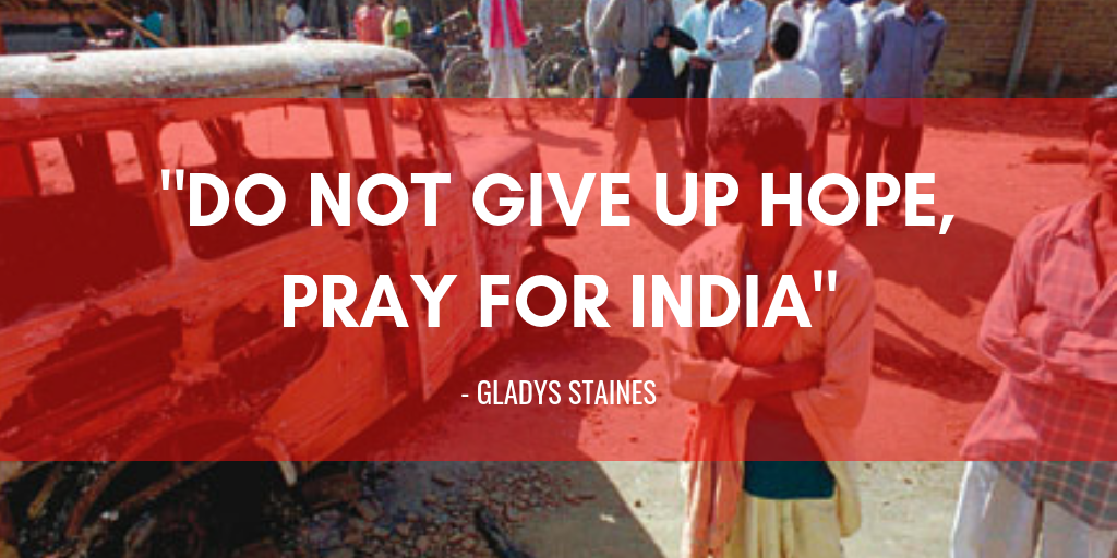 Quote by Gladys Staines - Graham Staines Story