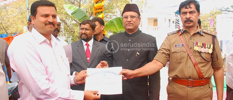 Award from district collector 26-1-2012