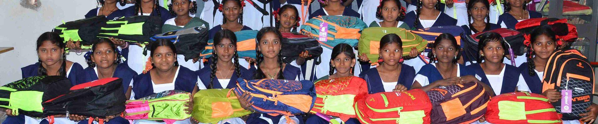 Pari School Bags Donation
