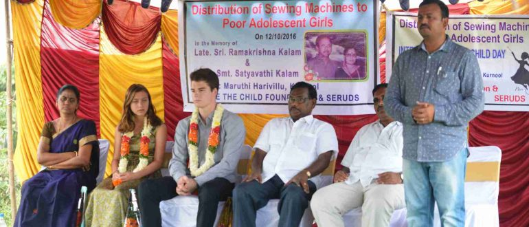 Distribution of Sewing Machines to Poor Adolescent Girls