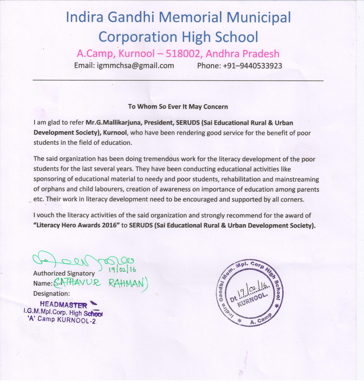Gandhi Hospital Concern