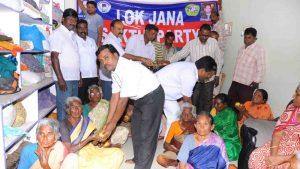 Lok Jana Sakhti Fruit Distribution