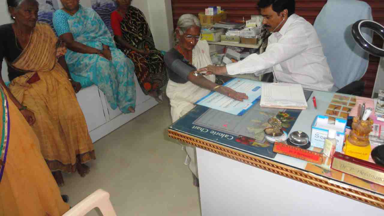 Medical support to poor old age persons in home