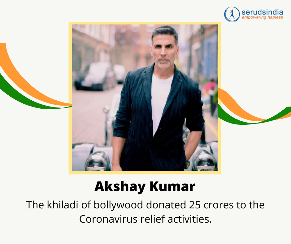 Akshay Kumar - Indian Celebrity Donations for Coronavirus Charity Relief Funds