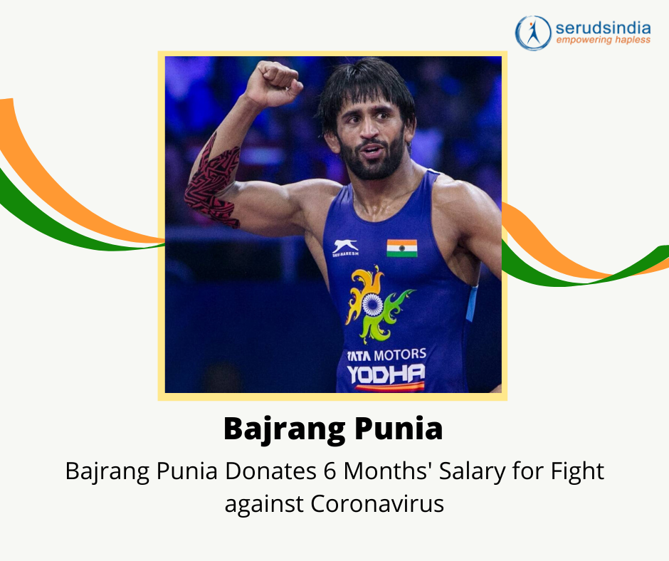 Bajrang Punia - Indian Celebrity Donations for Coronavirus Charity Relief Funds