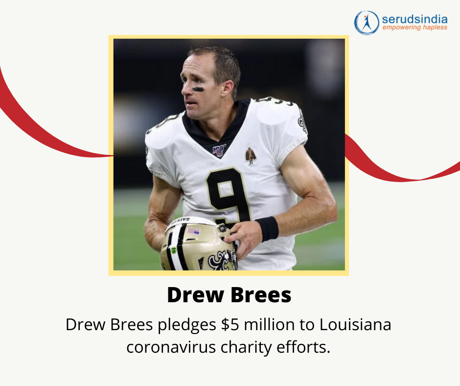 Drew Brees Donations for Coronavirus