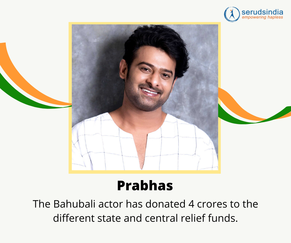 Prabhas - Indian Celebrity Donations for Coronavirus Charity Relief Funds