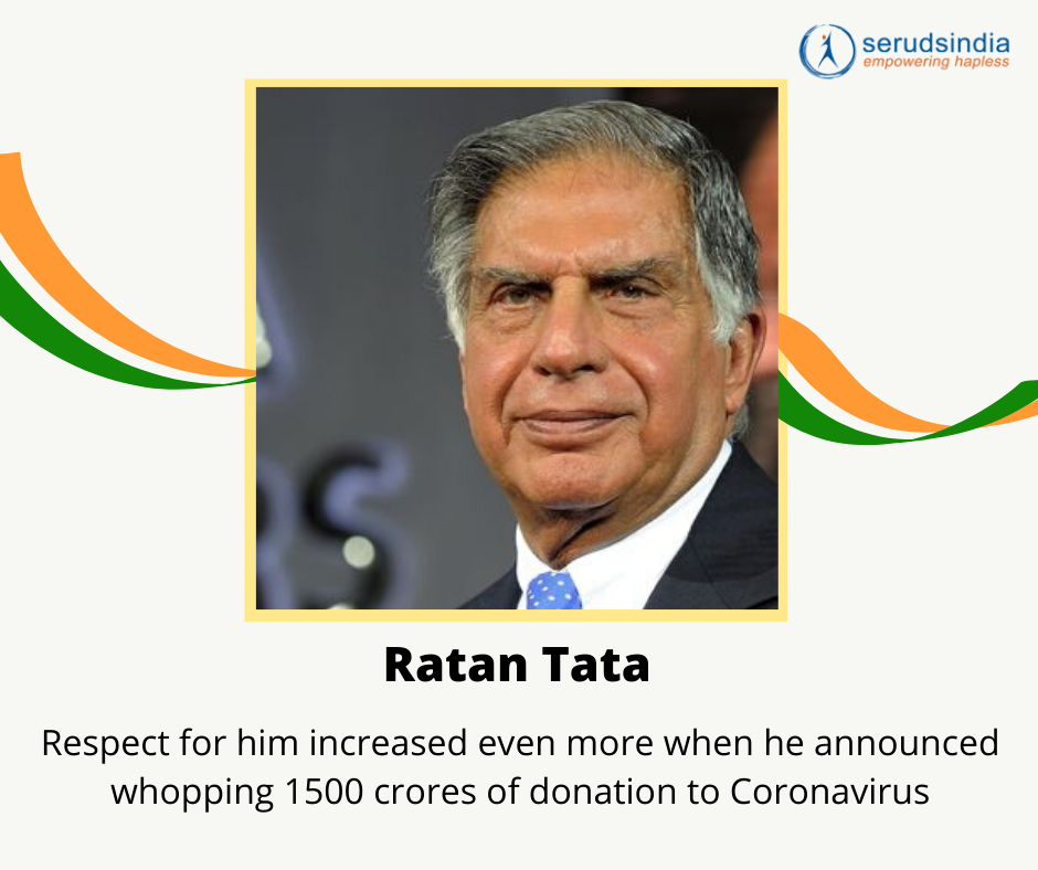 Ratan Tata- Indian Celebrity Donations for Coronavirus Charity Relief Funds