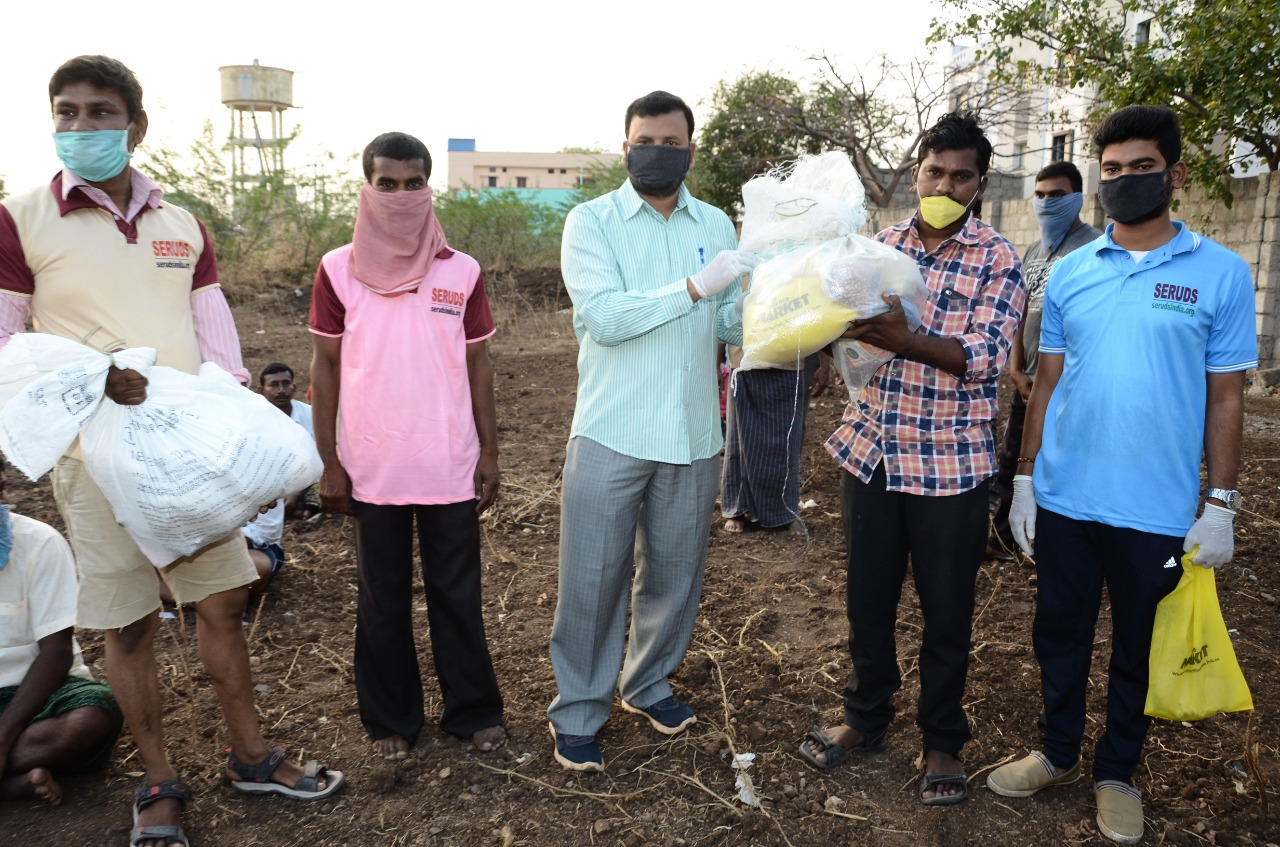 SERRUDS NGO distributes ration kits for daily wagers who are suffering during COVID-19 pandemic