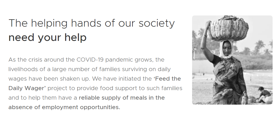 ZOMATO - Best Coronavirus Charity Feeding India
