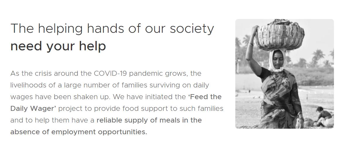 ZOMATO - Best Coronavirus Charity Feeding India